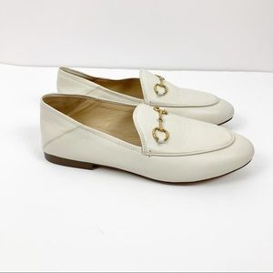 Kaitlyn Pan Ivory Horse Bit Leather Loafers Size 6